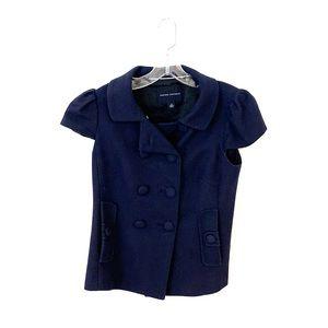 Navy short sleeve jacket